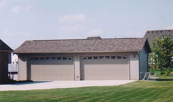 Park builders inc portfolio garages for 4 stall garage